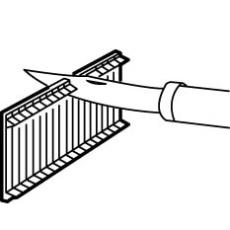 Afdækning for gruppetavle 5 modul, hvid