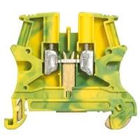 Viking 3 Rækkeklemme 6 mm², grøn/gul, 8 mm