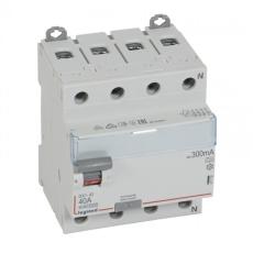 Fejlstrømsafbryder DX3 PFI 40A 300mA, 4P, 4M, 10kA, type A