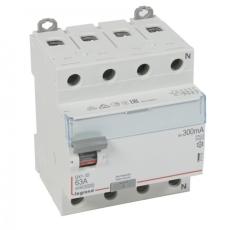 Fejlstrømsafbryder DX3 PFI 63A 300mA, 4P, 4M, 10kA, type A