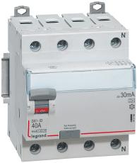 Fejlstrømsafbryder DX3 HPFI 40A 30mA, 4P, 4M, 10kA, type A