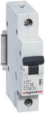 Automatsikring RX3 C 16A 1P, 1M, 6kA