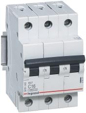 Automatsikring RX3 C 10A 3P, 3M, 6kA