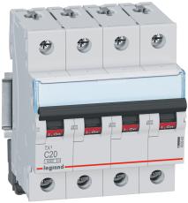 Automatsikring TX3 C 25A 4P, 4M, 6/6kA