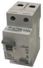 Fejlstrømsafbryder RX3 HPFI 40A 30mA, 2P, 2M, 10kA, type A