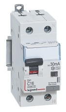 Kombiafbryder DX3 Automatsikr/HPFI C 10A 30mA 1P+N 6/6kA typ