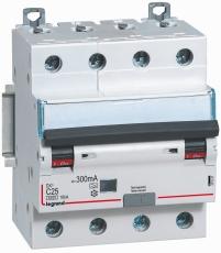 Kombiafbryder DX3 Automatsikr/PFI C 10A 300mA 4P 6/10kA type