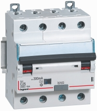 Kombiafbryder DX3 Automatsikr/PFI C 16A 300mA 4P 6/10kA type