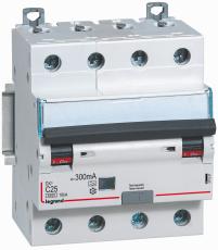 Kombiafbryder DX3 Automatsikr/PFI C 32A 300mA 4P 6/10kA type