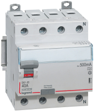 Fejlstrømsafbryder DX3 PFI 40A 300mA, 4P, 4M, 10kA, selektiv