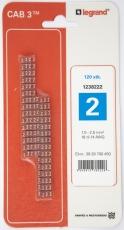 CAB3 Ledningsmærke 1,5-2,5 mm² mærket: 2 (P120)