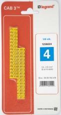 CAB3 Ledningsmærke 1,5-2,5 mm² mærket: 4 (P120)