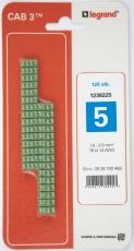 CAB3 Ledningsmærke 1,5-2,5 mm² mærket: 5 (P120)