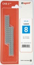 CAB3 Ledningsmærke 1,5-2,5 mm² mærket: 8 (P120)