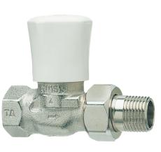 """1/2"""" TA radiator ventil RVO-1 ligeløbende"""
