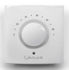 SALUS termostat med drejeknap til gulvarme