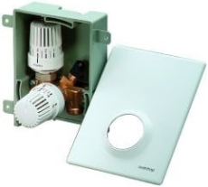 Oventrop Unibox Plus -1. gulvvarme m. rum og retur reg, hvid