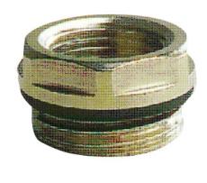 """1/2"""" x 3/8"""" Forkromet nippelmuffe m/o-ring"""