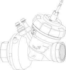 TA Fusion-P DN40 regulering & differentstryksregulator u. mo