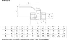 "Pettinaroli 3/4"" TEA kuglehane med standardgreb, muffe/muffe"