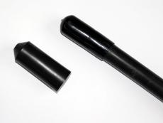 Krympeendemuffe 100/46 mm, sort, med lim, længde 140 mm