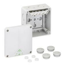 Forgreningsdåse Abox-i 060-6 med klemmer, 110x110x67 mm, grå