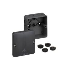 Forgreningsdåse Abox-i 025-L, 82x82x52 mm uden klemmer, sort