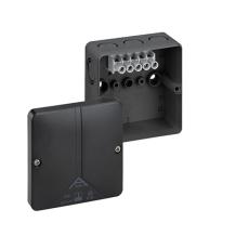 Forgreningsdåse Abox-i 040-4, 93x93x55 med klemmer, sort