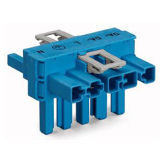 T-stykke 5P 1xhan/2xhun blå