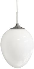 Glaspendel Egg E27 hvid
