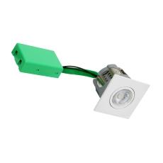 Downlight Arden GU10, max 7W LED, firkantet, mat hvid
