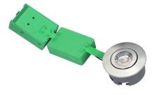 Downlight Arden LED 6W 927, 600 lumen, udendørs, rund, børst