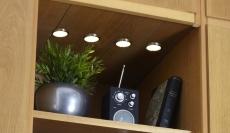 Lismore Påbygningsspot kitsæt med 4-spot LED 4x0,7W grå