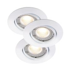 Triton 3-Kit LED 3x6W Cob 2700K 350 Lumen GU10 Dæmpbar Hvid
