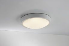 Plafond Cover LED 9W Ø250 mm IP23 grå