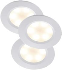 Rouge Skabsspotsæt LED 3x3W hvid Inkl. påbyg Ring og driver
