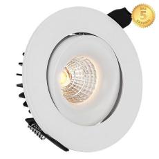 Downlight Moon LED 6W 830, 36°, med kip, hvid m/dæmpbar driv