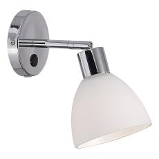 Væglampe Ray E14 max 40W krom/opal