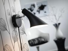 Væglampe Vanila E14 sort
