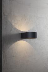 Ring Væglampe LED 4W sort IP44