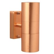 Væglampe Tin dobbelt 230V GU10 kobber