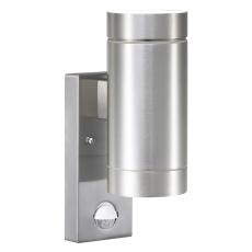 Væglampe Tin Maxi dobbelt GU10 med sensor alu