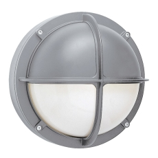 Alfa Skotlampe med halvskærm 1x18W G24d-2 alu