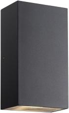 Væglampe Rold Up/Down med integreret COB LED 2x5W flad, sort
