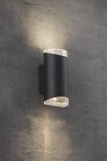 Væglampe Arn dobbelt GU10 sort