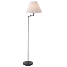 Break Gulvlampe m/sving arm og plisseskærm H:158 cm sort