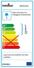 Dove Bordlampe LED 5,4W 340 lumen sort