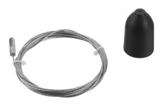 Global 3F Wiresæt SPW 1-2 3 meter sort