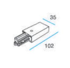 Square 1F 230V Tilslutning omvendt grå (alu)