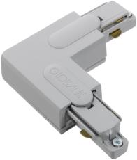 Global 1F Vinkel GB34-1 højre grå (alu) (udvendigt)